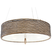 Flow 5 Light 24 inch Hammered Ore Pendant Ceiling Light
