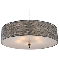 Varaluz Flow 5 Light Pendant in Steel 247P05SL