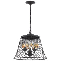 Varaluz Madelyn 3 Light Pendant in Forged Iron 249P03BZ