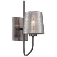 Varaluz 253K01BC Meridian 1 Light 5 inch Black Chrome Wall Sconce Wall Light