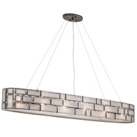 Varaluz 255N08NB Harlowe 6 Light 48 inch New Bronze Linear Pendant Ceiling Light