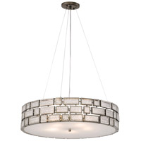Varaluz Harlowe 5 Light Pendant in New Bronze with Textured Ice Glass 255P05NB