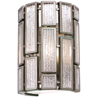 Varaluz Harlowe 1 Light Vanity Wall Sconce in New Bronze with Textured Ice Glass 255W01NB