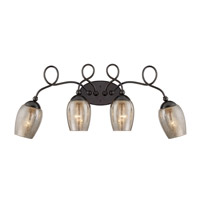 Emma 4 Light 32 inch Black Chrome Vanity Wall Light