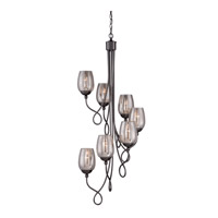Emma 7 Light 20 inch Black Chrome Chandelier Ceiling Light