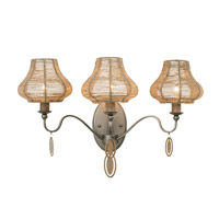 Haven 3 Light 21 inch New Bronze Vanity Wall Light