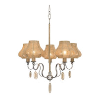 Varaluz Haven 5 Light Chandelier in New Bronze with Abaca Fiber Abaca Fiber 257C05NB