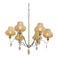 Varaluz Haven 6 Light Chandelier in New Bronze with Abaca Fiber Abaca Fiber 257C06NB