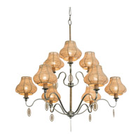 Varaluz Haven 9 Light Chandelier in New Bronze with Abaca Fiber Abaca Fiber 257C09NB