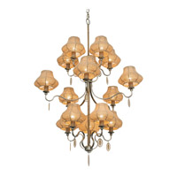 Varaluz Haven 15 Light Chandelier in New Bronze with Abaca Fiber Abaca Fiber 257C15NB