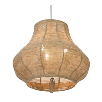 Varaluz Haven 3 Light Pendant in New Bronze with Abaca Fiber Abaca Fiber 257P03NB