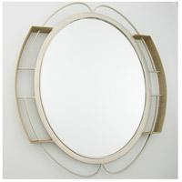 Tinali 34 X 30 inch Gold Dust Wall Mirror Home Decor, Oval, Varaluz Casa