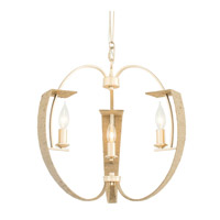 Tinali 3 Light 18 inch Gold Dust Chandelier Ceiling Light