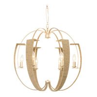 Tinali 6 Light 24 inch Gold Dust Chandelier Ceiling Light