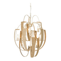 Tinali 12 Light 26 inch Gold Dust Chandelier Ceiling Light