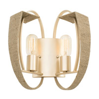 Varaluz Tinali 2 Light Wall Sconce in Gold Dust 258W02GD