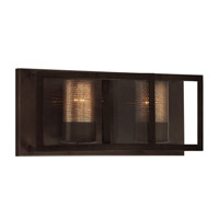 Varaluz Jackson 2 Light Vanity in Rustic Bronze with Recycled Arched Window Pane Glass 259B02RB