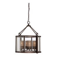 Jackson 4 Light 18 inch Rustic Bronze Chandelier Ceiling Light