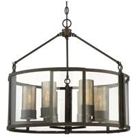 Jackson 6 Light 26 inch Rustic Bronze Pendant Ceiling Light