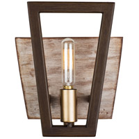 Varaluz 260B01DO Zag 1 Light 7 inch Dark Oak Bath Vanity Wall Light