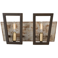 Varaluz 260B02DO Zag 2 Light 15 inch Dark Oak Bath Vanity Wall Light