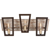 Varaluz 260B03DO Zag 3 Light 21 inch Dark Oak Bath Vanity Wall Light