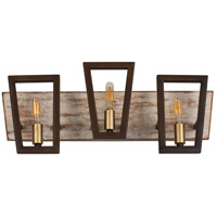 Varaluz 260B03DO Zag 3 Light 21 inch Dark Oak Bath Vanity Wall Light alternative photo thumbnail