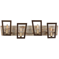 Varaluz 260B04DO Zag 4 Light 29 inch Dark Oak Bath Vanity Wall Light