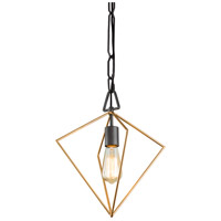 Varaluz 261P01AGRB Metropolis 1 Light 13 inch Antique Gold and Rustic Bronze Pendant Ceiling Light