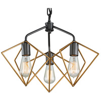 Metropolis 3 Light 20 inch Antique Gold and Rustic Bronze Pendant Ceiling Light