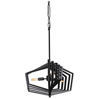 Gymnast 3 Light 20 inch Black Pendant Ceiling Light