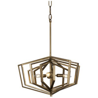 Gymnast 3 Light 20 inch Havana Gold Pendant Ceiling Light