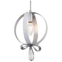 Varaluz 263M01RPESV Posh 1 Light 7 inch Pearl and Silver Leaf Mini Pendant Ceiling Light