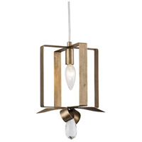 Varaluz 263M01SHG Posh 1 Light 7 inch Havana Gold Mini Pendant Ceiling Light
