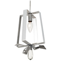 Varaluz 263M01TPESV Posh 1 Light 7 inch Pearl and Silver Leaf Mini Pendant Ceiling Light