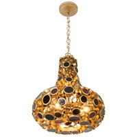 Fascination 3 Light 18 inch Kolorado Carafe Pendant Ceiling Light, Recycled Amber Bottle Glass
