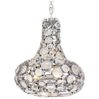 Fascination 18 inch Metallic Silver Pendant Ceiling Light