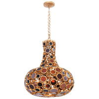 Fascination 4 Light 24 inch Kolorado Carafe Pendant Ceiling Light, Recycled Amber Bottle Glass