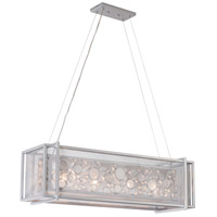 Fascination 36 inch Metallic Silver Pendant Ceiling Light