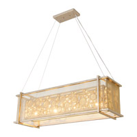 Fascination 4 Light 36 inch Zen Gold Pendant Ceiling Light
