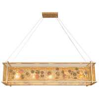 Fascination 5 Light 48 inch Kolorado Linear Pendant Ceiling Light, Recycled Amber Bottle Glass