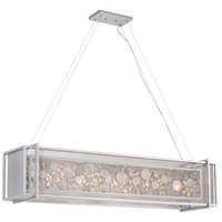 Fascination 48 inch Metallic Silver Pendant Ceiling Light