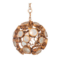Fascination 1 Light 10 inch Hammered Ore Pendant Ceiling Light in Clear