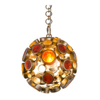 Fascination 1 Light 10 inch Kolorado Pendant Ceiling Light in Amber