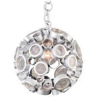 Fascination 10 inch Metallic Silver Pendant Ceiling Light in Clear