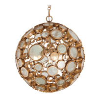 Varaluz Fascination 3 Light Pendant in Hammered Ore with Clear Glass 265P03HO