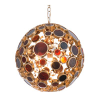 Varaluz Fascination 3 Light Pendant in Kolorado with Amber Glass 265P03KO