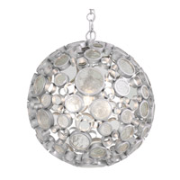 Varaluz Fascination 3 Light Pendant in Nevada with Clear Glass 265P03NV
