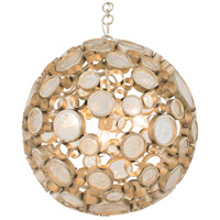 Varaluz Fascination 3 Light Pendant in Zen Gold with Champagne Glass 265P03ZG