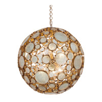 Varaluz Fascination 6 Light Pendant in Hammered Ore with Clear Glass 265P06HO